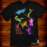 Kitty cat collage t-shirt rainbow cats kittens