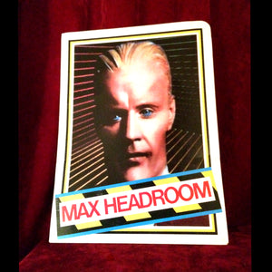 Vintage 80's Max Headroom school folder
