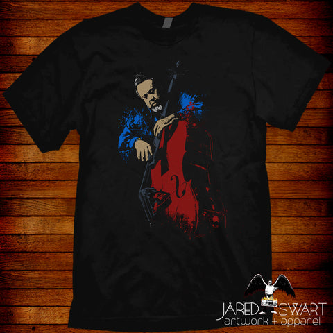 Charles Mingus T-shirt fine art styled design by Jared Swart