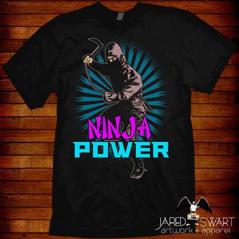 Ninja Power 80s T-shirt retro NES VHS