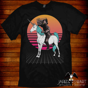 Ninja Unicorn Retro 80s Tee