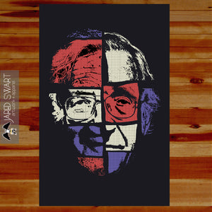 2016 Noam Chomsky poster / art print [Commissioned by The Chronicle of Higher education]