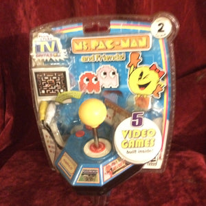 NEW Jakks Pacific Namco Ms Pac Man Plug & Play TV Game 5 vintage arcade games