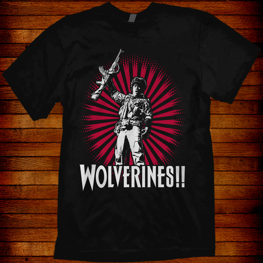 Red Dawn T-Shirt Wolverines!  swayze 1984