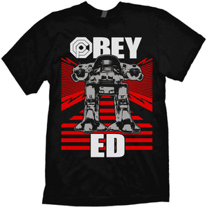 "Robocop T-shirt ""Obey Ed"" by Jared Swart based on the 1987 cult classic"