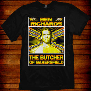 Ben Richards T-shirt based on the Arnold Schwarzenegger 80s movie Running Man
