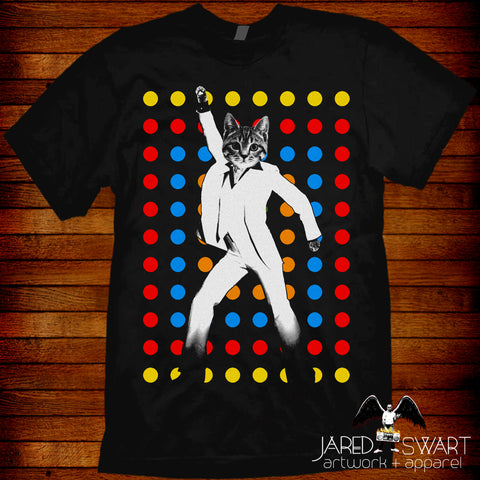 Kitty Cat lover T-shirt disco Saturday Night Fever