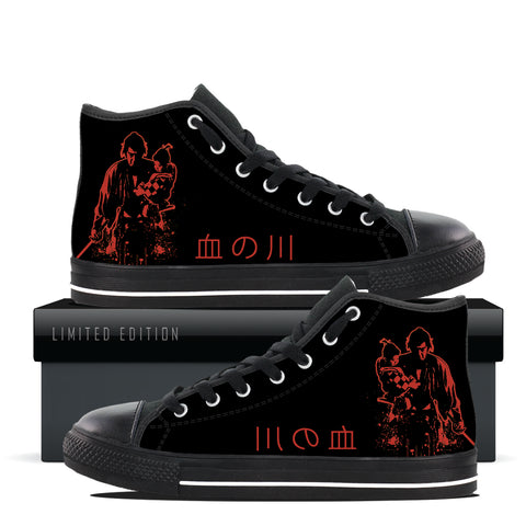 "Shogun Assassin Custom Designer High Top Shoes by Jared Swart ""Rivers of Blood"""
