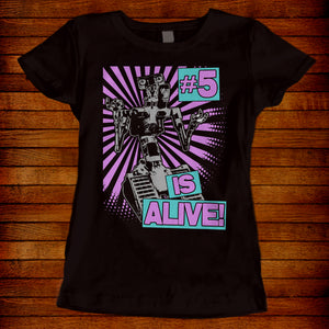 80s Retro T-shirt Short Circuit #5 Is Alive