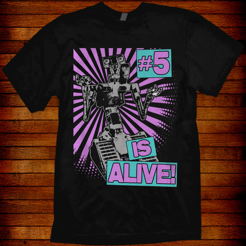 Short Circuit #5 Is Alive. 80s Retro styled T-shirt. 1986