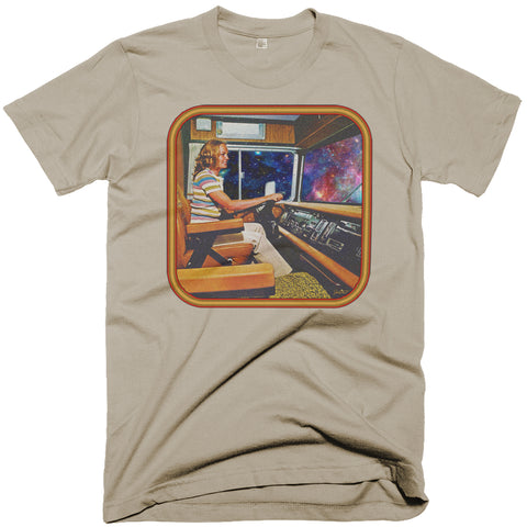 "Psychedelic 70's Retro T-shirt ""Space Trucker"" Artwork by Jared Swart"