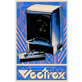 Vectrex retro video game console poster art print 11x17
