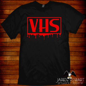 VHS T-shirt Bloody Horror Big Box Collector's Shirt