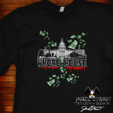 American Whorehouse: A Jared Swart Art Show T-shirt (2016 collection)