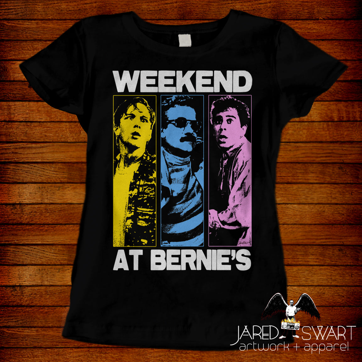 Weekend At Bernie's T-shirt Pop-Art style design by Jared Swart