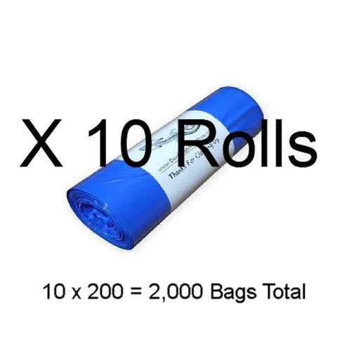 2000 Printed with our logo, 1 Mil. Dog Waste Bags, Free Shipping