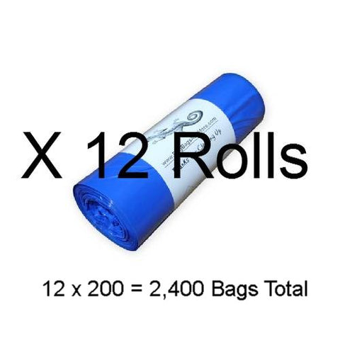 12 Rolls Earth Friendly Waste Bags, Total 2,400 bags