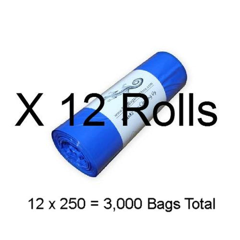 12 Rolls Earth Friendly Dog Waste Bags, Total 3,000 bags