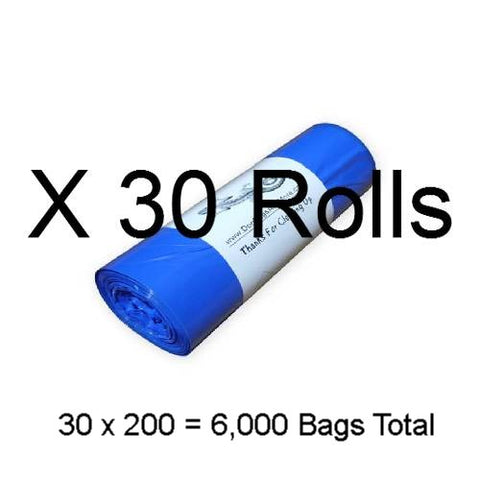 6000 Blank 1 Mil. Dog Waste Bags - DogBagsandMore.com
