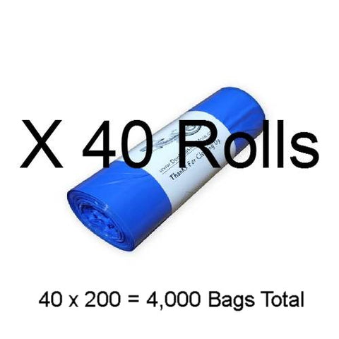 8000 Printed 1 Mil. Dog Waste Bags - DogBagsandMore.com