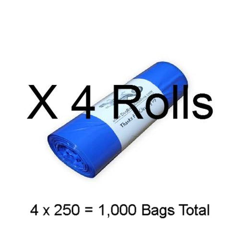 1000 Printed 3/4 Mil. Dog Waste Bags, Free Shipping - DogBagsandMore.com