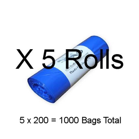 1000 Printed 1 Mil. Dog Waste Bags, Free Shipping - DogBagsandMore.com