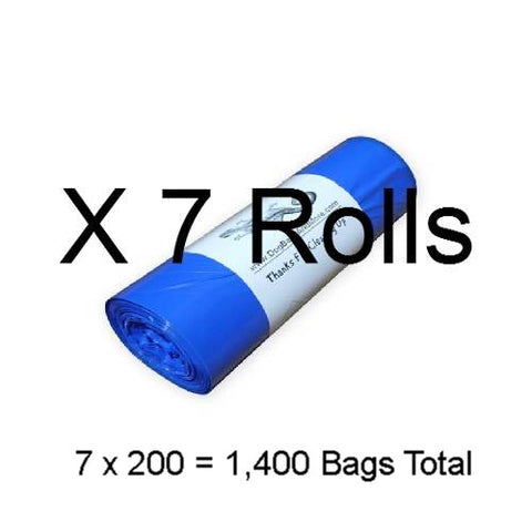 1400 Printed 1 Mil. Dog Waste Bags, Free Shipping - DogBagsandMore.com