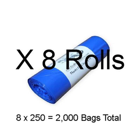2000 No Logo, 3/4 Mil. Dog Waste Bags, Free Shipping