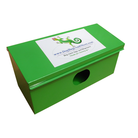 Single Roll / Locking Dog Waste Bag Dispenser - Free Shipping - DogBagsandMore.com