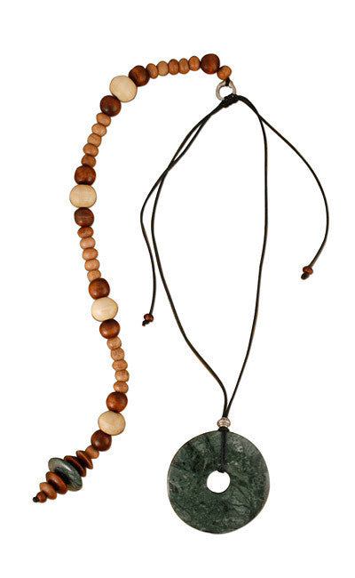 Classic Dark Green Posture Reminder Necklace