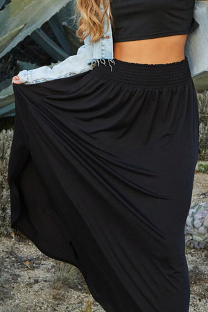 Classic Black Maxi Skirt - Flair and Company