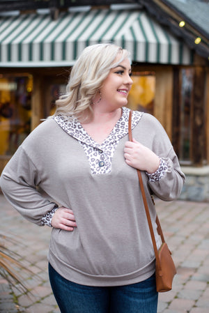 Wild For You Top In Cocoa - Flair and Company