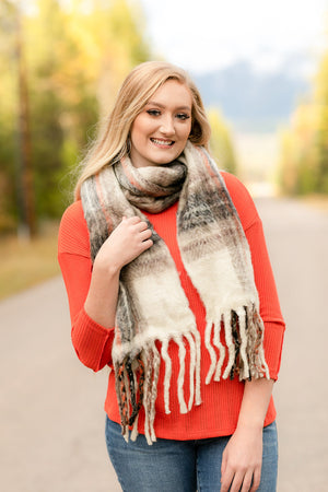 Wrap Me In Fall Scarf In Warm Spice - Flair and Company