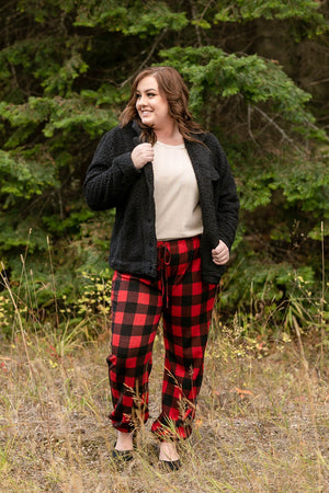 Winter In The Rockies Plaid Joggers - Flair and Company