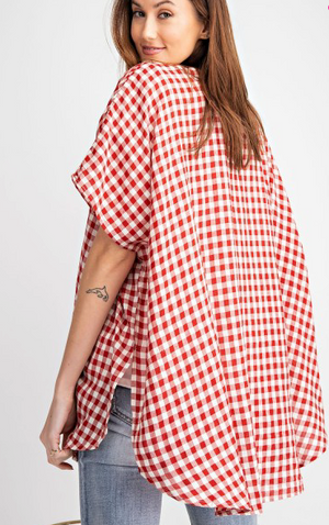 Gingham Button Down - Flair and Company