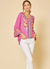 Pink Embroidered Bell Sleeve Top - Flair and Company