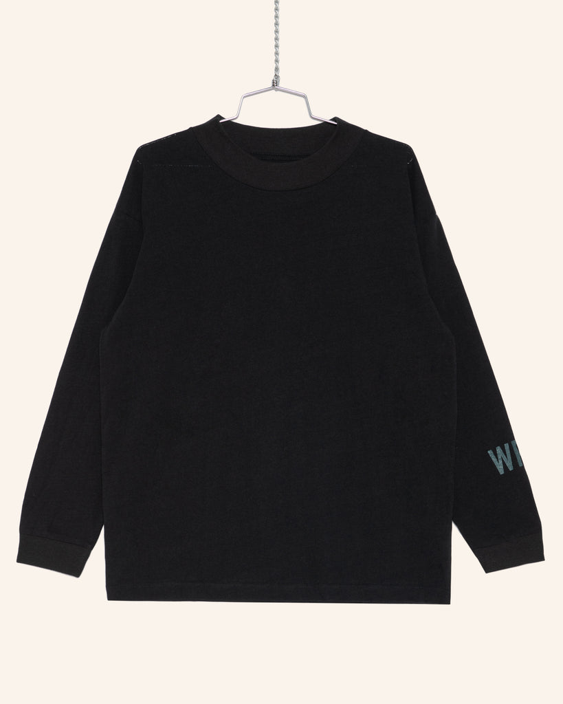 L/S HEAVYWEIGHT 'WRFS' TEE BLACK