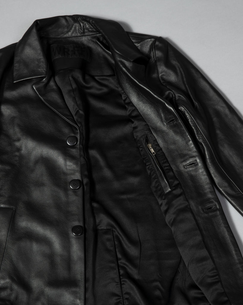 LEATHER OVERCOAT