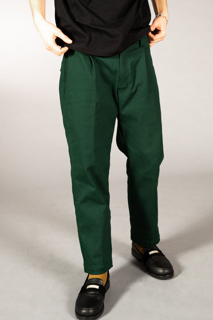 HEAVYWEIGHT TWILL TROUSERS PINE