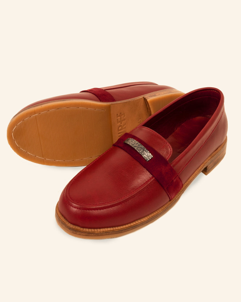 LEATHER LOAFER SCARLET