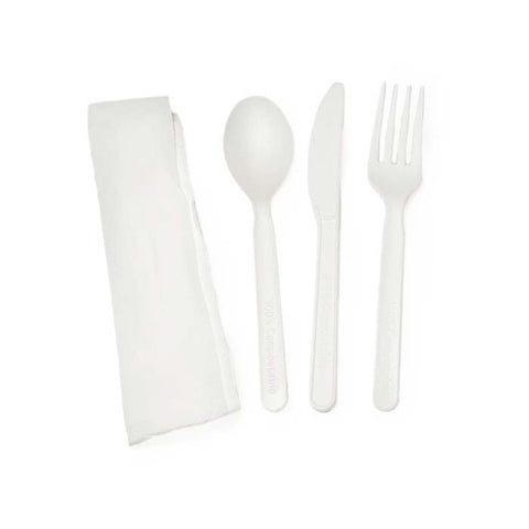 "Ustensiles compostables (paquet emballé 5"") 