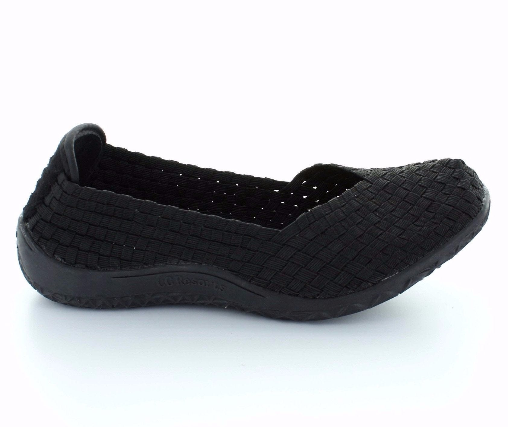 CC Resorts Sugar Black Womens Elastic Causal Shoe