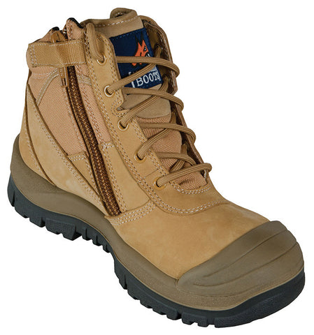 Mongrel 4 Series PU/TPU Scuff Cap 461050 Wheat ZipSider Work boot (wobob)