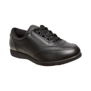 Hush Puppies Classic Walker Black Womens Lace Up Duty Shoe
