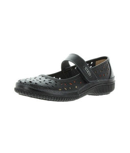 Just Bee Comfort Black Mary Jane Casual Leather Upper & Linning (bkcale)