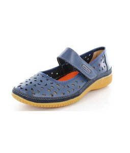 Just Bee Comfort Navy Mary Jane Casual Leather Upper & Linning (nycale)