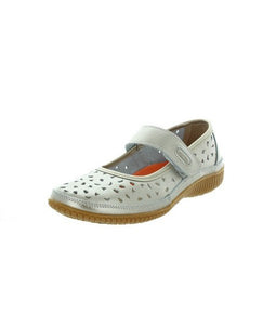 Just Bee Comfort Cale Pewter Mary Jane Casual Leather Upper & Linning