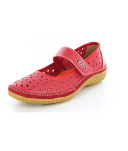 Just Bee Comfort Red Mary Jane Casual Leather Upper & Linning (rdcale)