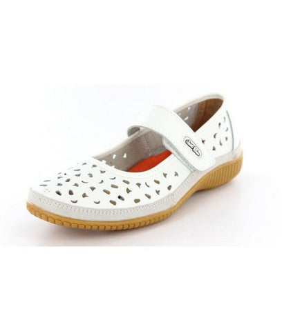 Just Bee Comfort White Mary Jane Casual Leather Upper & Linning