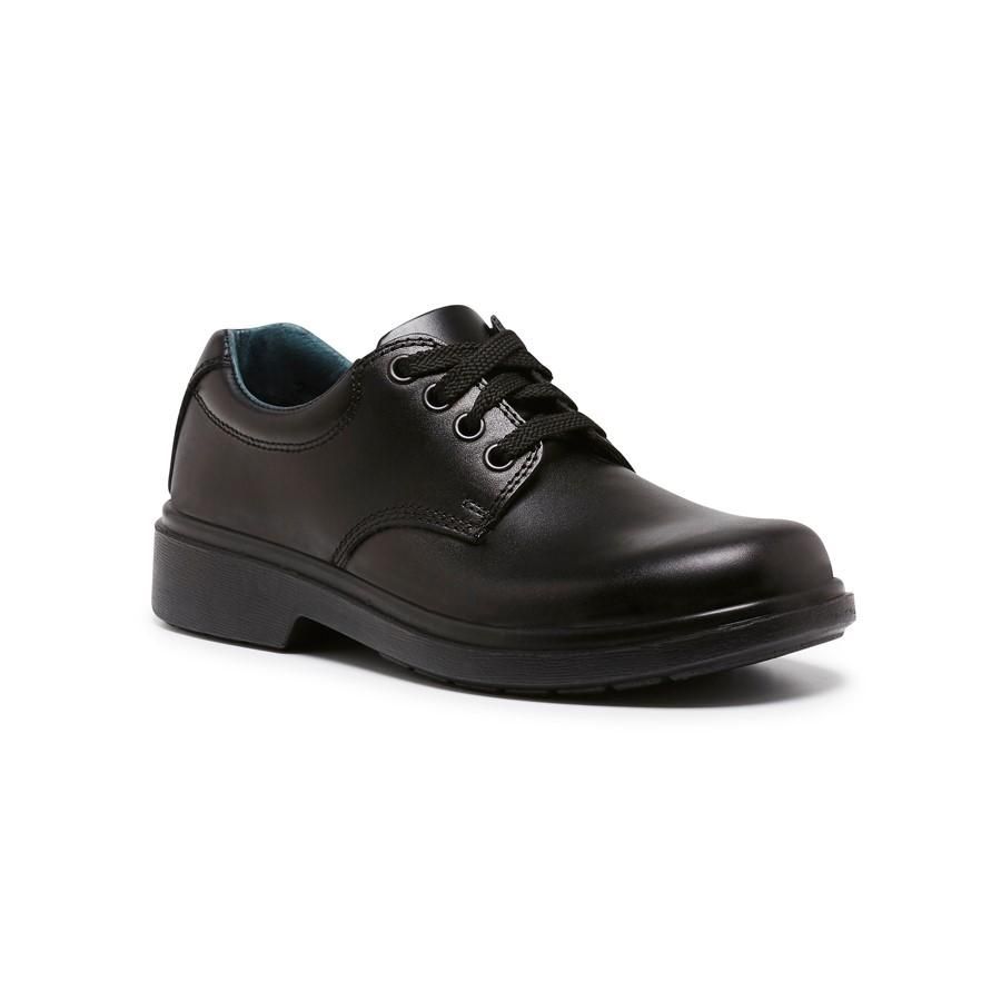 Clarks Daytona Youth Black Kids School Shoe E Fitting